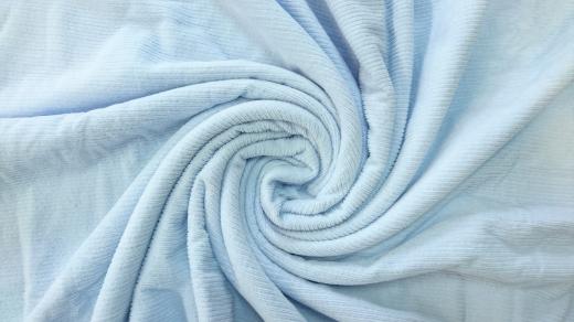 軽量シール織綿毛布 横ボーダー(ブルー) 松岡織物株式会社