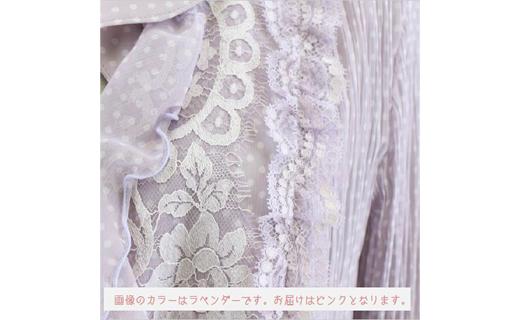 【11号】フリル衿リバーレースプリーツジャケット【ピンク】
