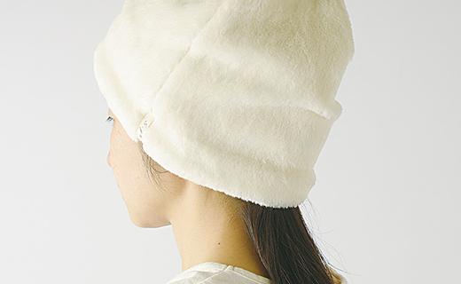 【ナチュラル】帽子 オーガニックコットン無染色暖かボアワッチ