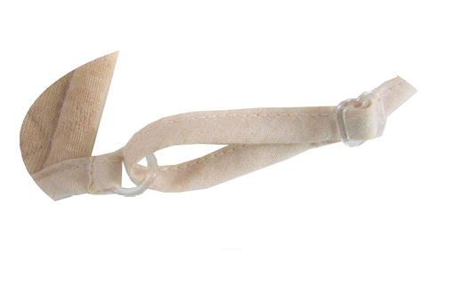 【ブラウン】マスク オーガニックコットン中綿以外使用キルト立体マスク