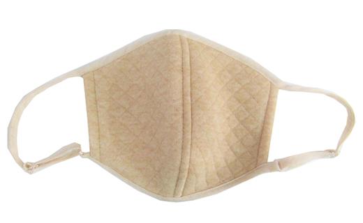 【ナチュラル】マスク オーガニックコットン中綿以外使用キルト立体マスク
