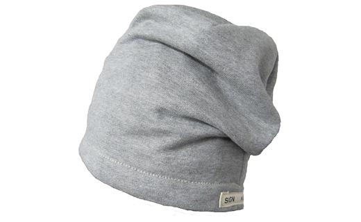 【ブラウン】帽子 オーガニックコットン裏毛シングルビーニー