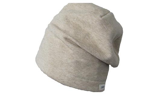 【杢グレー】帽子 オーガニックコットン裏毛シングルビーニー