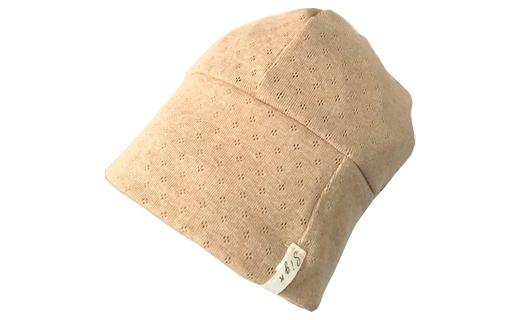 【ブラック】室内用帽子オーガニックコットン天4方ワッチ