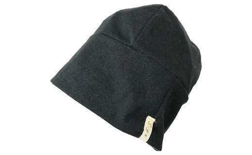 【杢グレー】室内用帽子オーガニックコットン天4方ワッチ