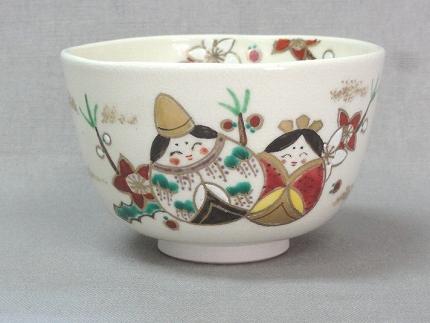 仁清色絵雛祭茶碗