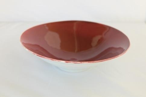 辰砂釉の陶芸作品「鉢」