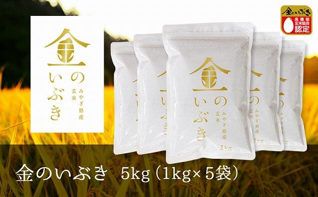 【令和2年産】金のいぶき玄米5kg(1kg×5袋)
