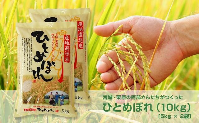 【新米/令和元年産】宮城・栗原の阿部さんたちが作ったひとめぼれ 10kg
