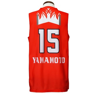 サイズ:(XL) 富士通レッドウェーブレプリカユニフォーム#15:山本千夏選手