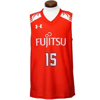 サイズ:(MD) 富士通レッドウェーブレプリカユニフォーム#15:山本千夏選手