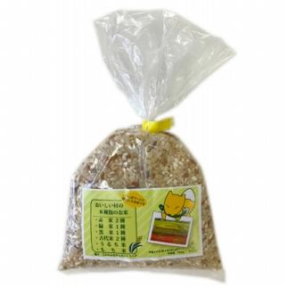 田んぼアート米300g(赤米、黒米、もち米、香り米、古代米など数種類をブレンド)×8個