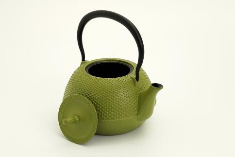 南部鉄器鉄瓶末広アラレ緑1.2リットル