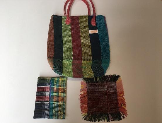 就労支援施設で心を込めて作ったさをり織り商品セット(A)