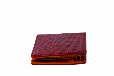二つ折り財布 豊岡財布 TRV0003W-90(ワイン)