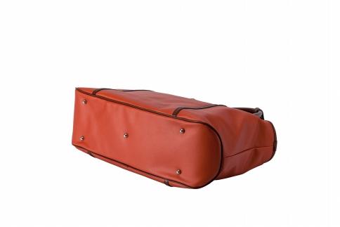 ボストントート 豊岡鞄 BK19-104-80(オレンジ)