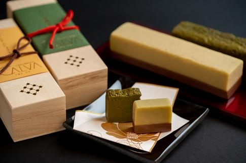 【ChocolaterieCALVA北鎌倉】栗きんとんショコラ、てりーぬ抹茶2本セット(ギフト箱入り)