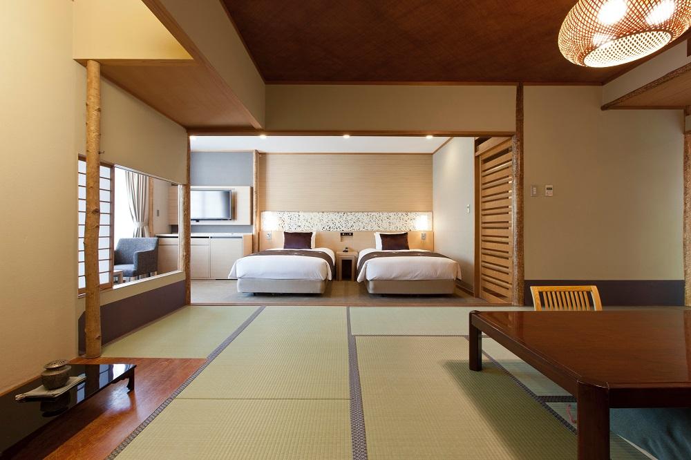 「宮島グランドホテル有もと」一泊二食付ペア宿泊券(数寄屋和室・数寄屋和洋室)
