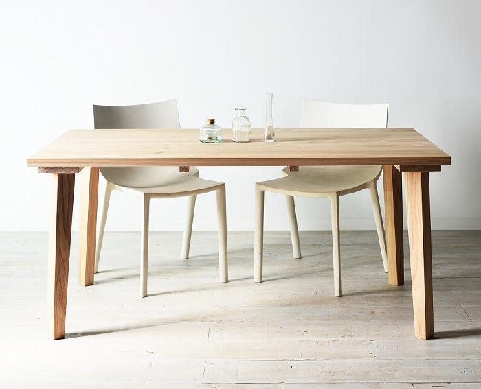 【自分で組み立てる楽しみ/無塗装】ジサクダイニングテーブル240国産杉