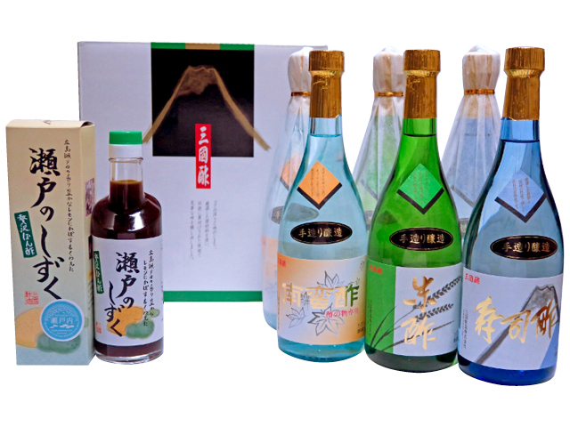 AE01-NT三国酢特醸手造りギフト6本セット+贅沢ぽん酢瀬戸のしずく