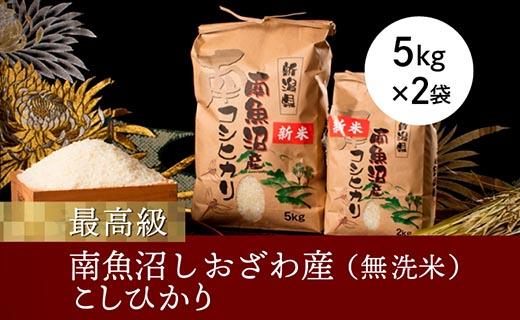 【令和2年度産新米】【高級】南魚沼しおざわ産こしひかり5kg×2袋(無洗米)