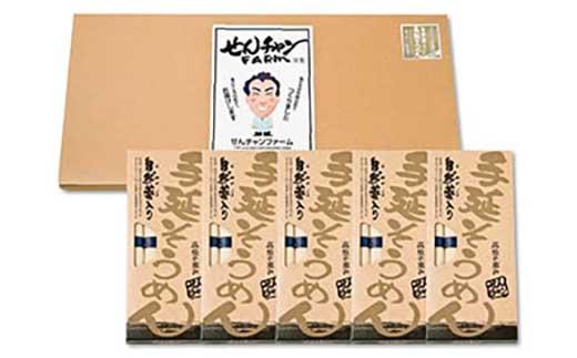 コシがあって美味♪手延べ乾麺の自然薯入りそうめん(250g×5箱)【ポイント交換専用】