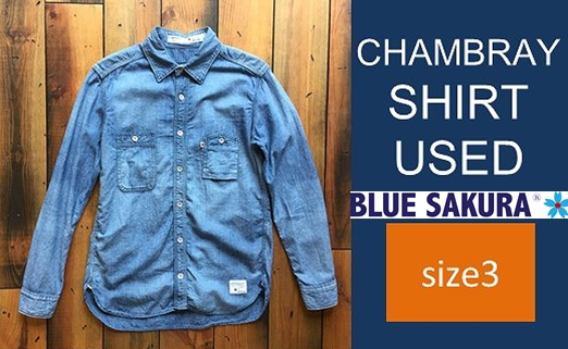CK10 【size3】CHAMBRAY SHIRT USED