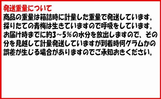 <令和2年発送>【梅干用】紀州南高梅(3L‐10kg)