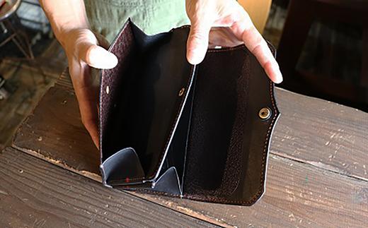レザー長財布(茶色)