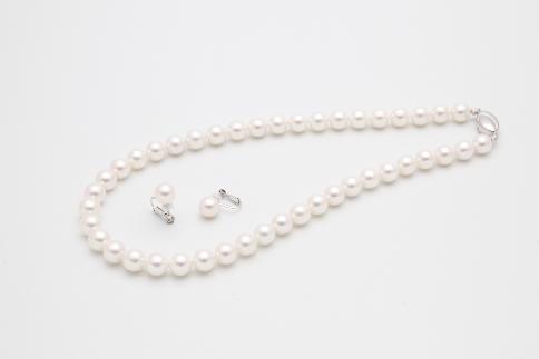 あこや真珠ネックレス(8.5~9mm)イヤリングセット