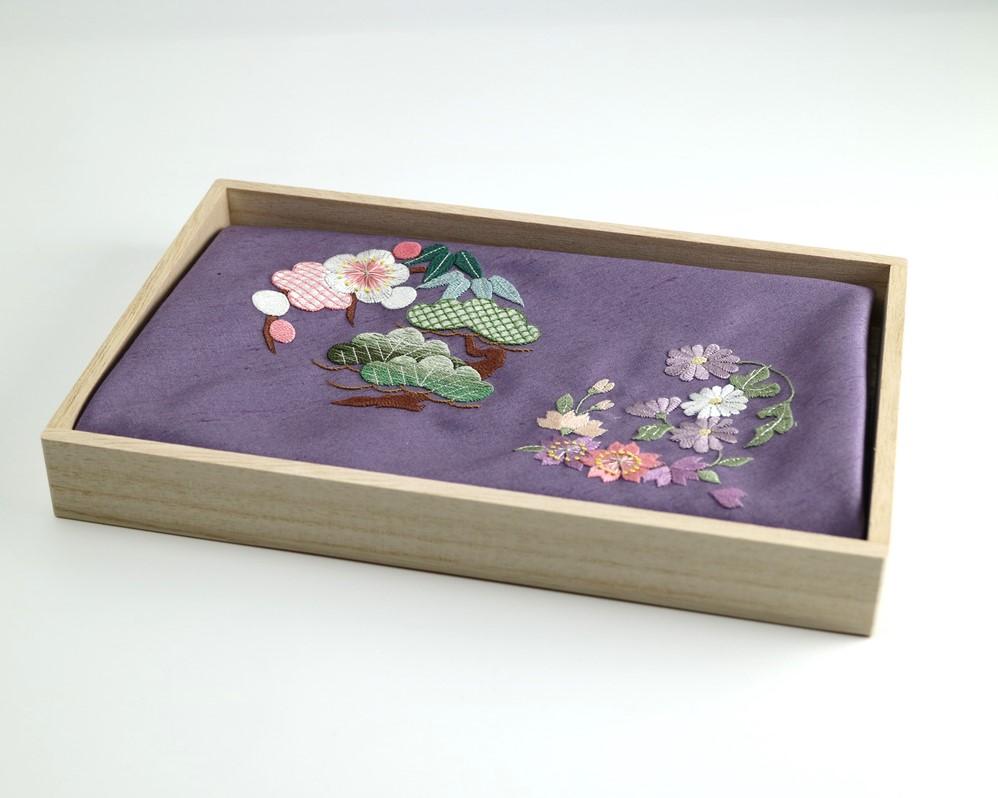 【加賀繍】(うす紫)風呂敷