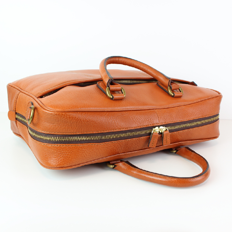 【ビジネスバッグ】本革通勤バッグ2way通勤/通学OL【at-17nsチョコ】