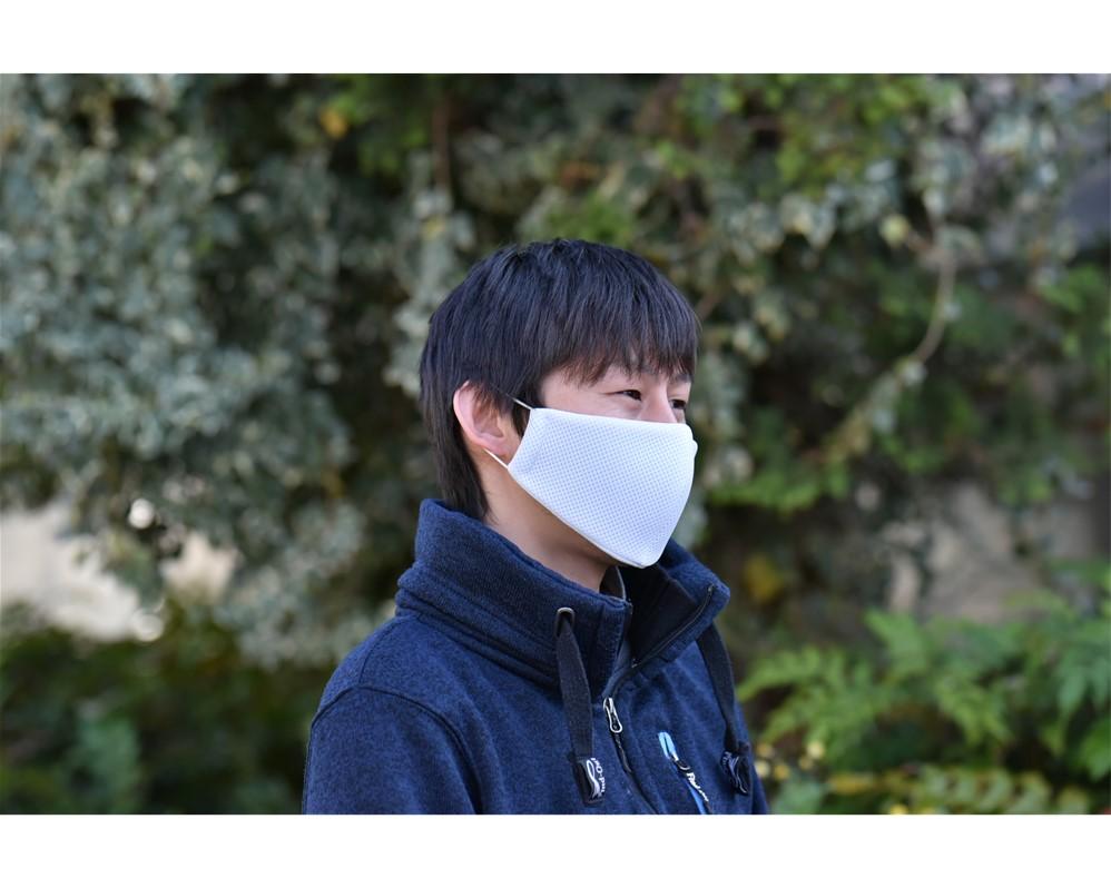 【Mサイズ】ひんやり冷たい抗菌マスク白 2枚組
