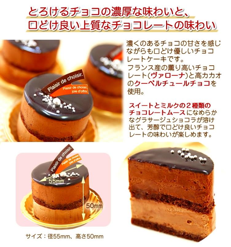 リッチな味わい♪チョコレートケーキ『とろける生ショコラ』北海道・新ひだか町からお届け