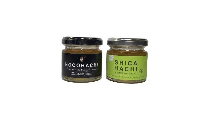 能古島産蜂蜜「のこはち」と志賀島産蜂蜜「しかはち」のセット