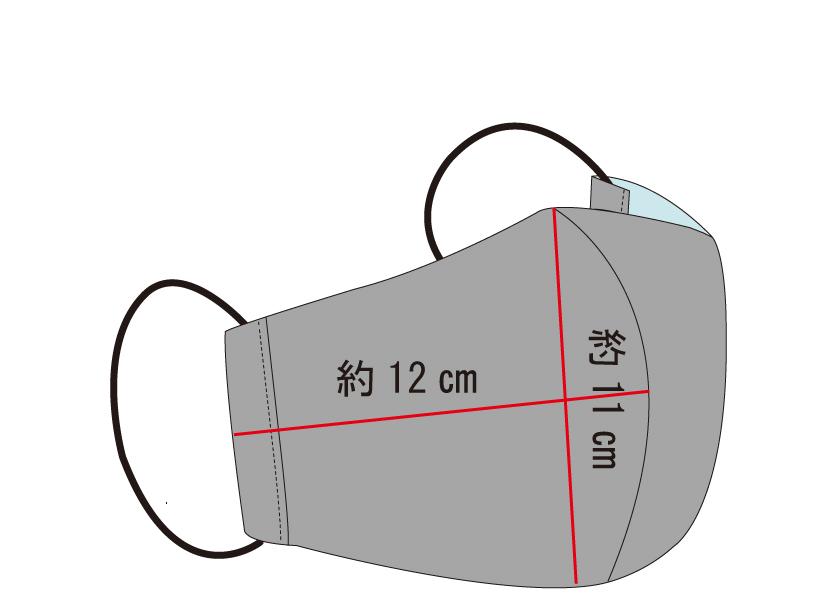 【Mサイズ】ひんやり冷たい抗菌マスク ベージュ2枚組