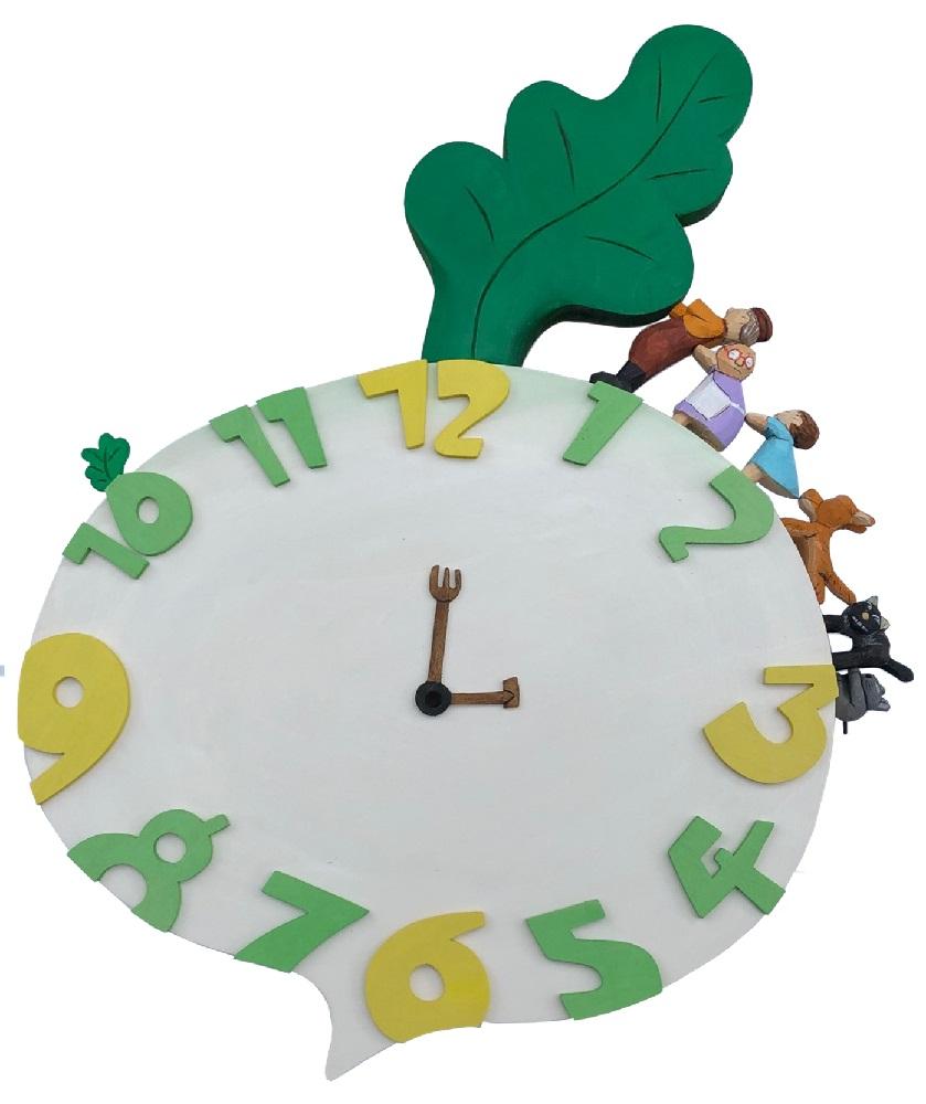 オリジナルアート時計「大きなかぶ