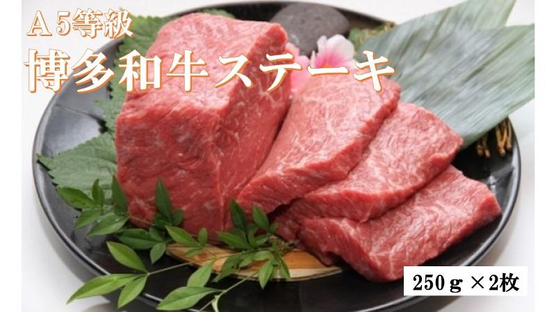 A5等級博多和牛ステーキ500g(250g×2枚)