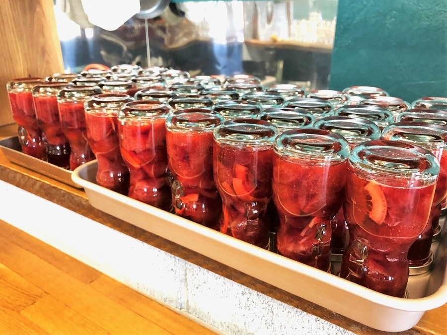 【福岡名産】あまおう飲む酢&果肉たっぷりコンポートセット