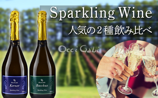 【OcciGabiWinery】スパークリング・ワイン☆人気2種のみ比べセット☆(バッカス・ケルナー)