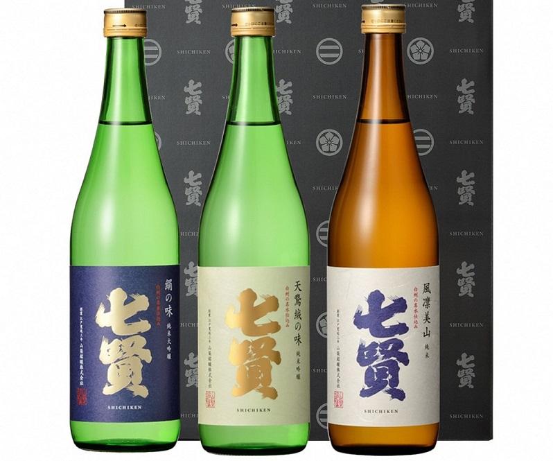 七賢日本酒飲み比べ720ml×3本セット