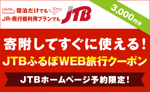 【半田市】JTBふるぽWEB旅行クーポン(3,000円分)