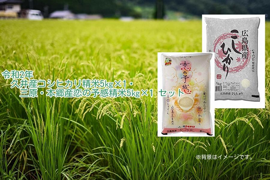 ☆2020年産(令和2年)収穫☆コシヒカリ精米5kg・恋の予感精米5kgセット【ポイント交換専用】