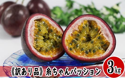 【2021年発送】《訳アリ品》糸ちゃんパッション(糸満産パッションフルーツ) 3kg