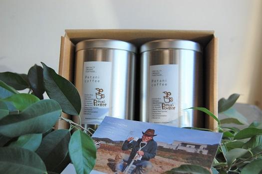 店主おすすめコーヒーギフト缶2缶(豆:200g×2缶)
