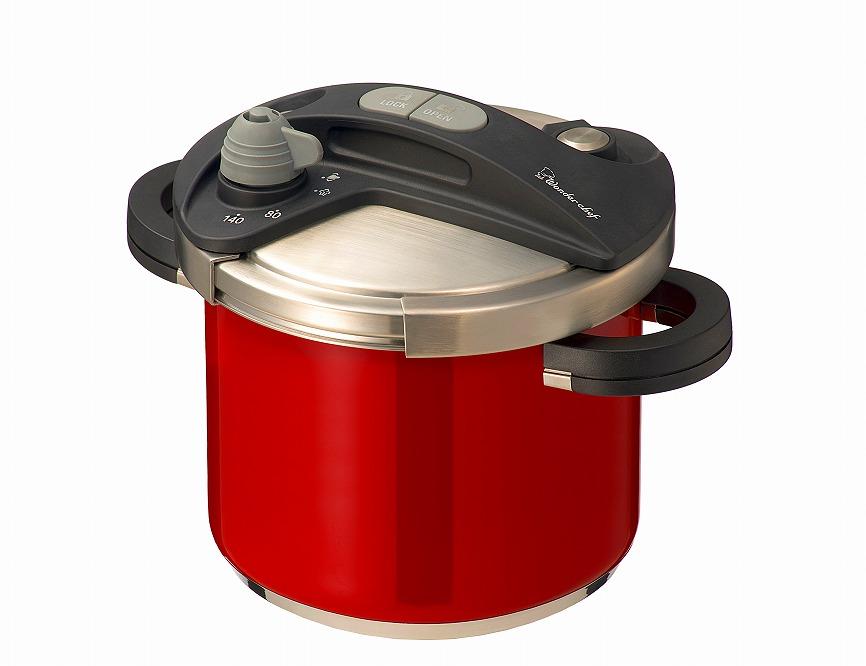 キッチン・食卓を華やかに演出 オースプラス両手圧力鍋5Lレッド