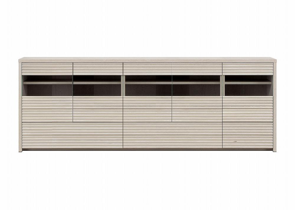 天然木無垢家具コリーナ(サイドボード・リビングボード)210cm【オークホワイト】