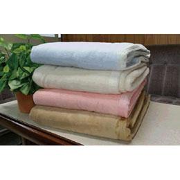 シール織綿毛布(無地)(アイボリー)ダブル三和シール工業株式会社