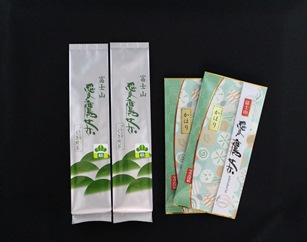 愛鷹茶 深蒸し煎茶かほり200g・ブレンドくき煎茶松400g