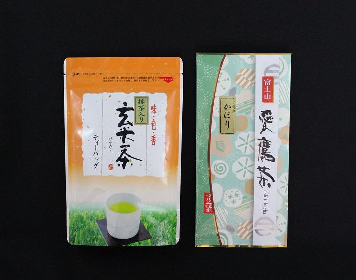 愛鷹茶 深蒸し煎茶かほり・抹茶入玄米茶TB